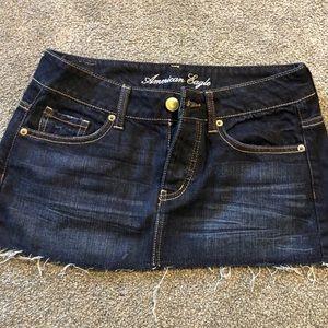 American Eagle mini denim skirt